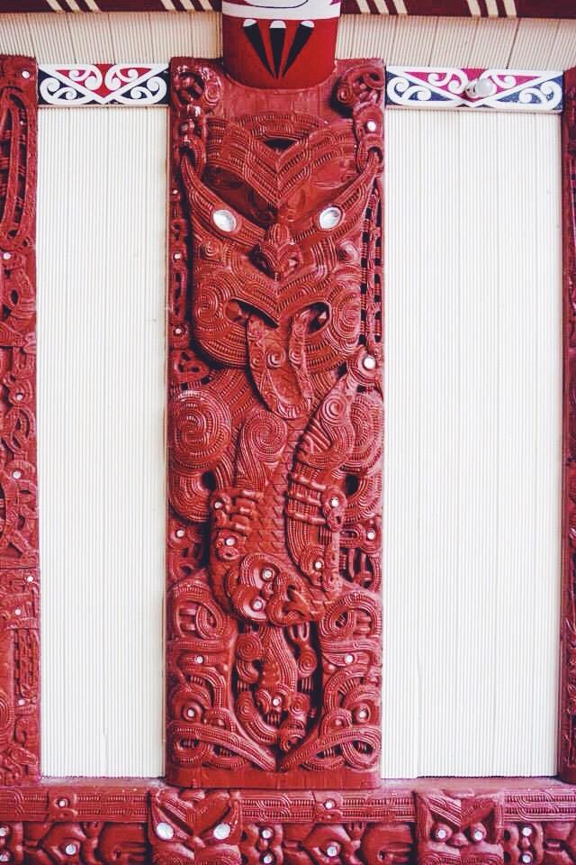On a Maori church