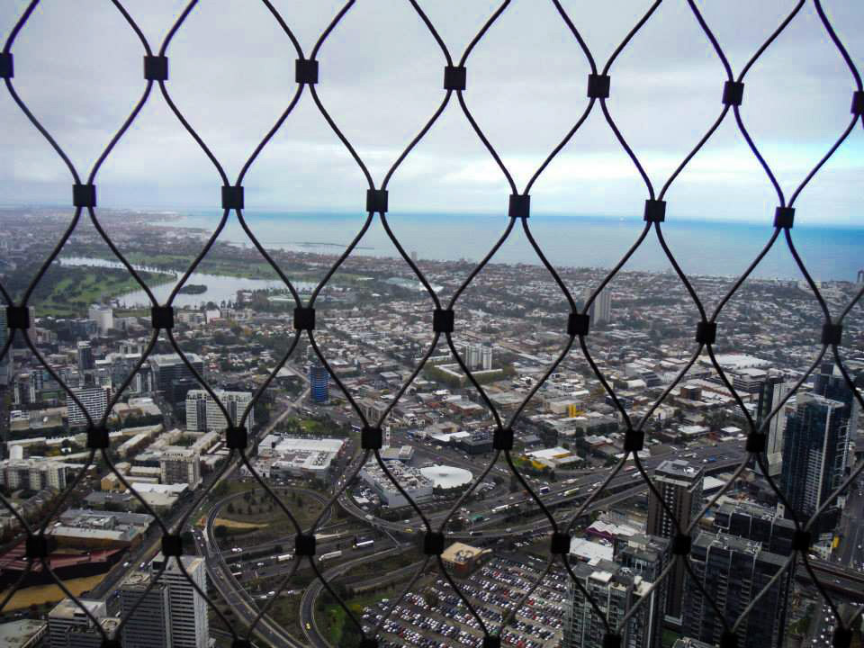 View from the Eureka skydeck on a rainy day