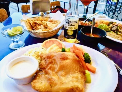 Scott's beer battered fish at Victor's Place. Is Puerto Vallarta safe to travel?