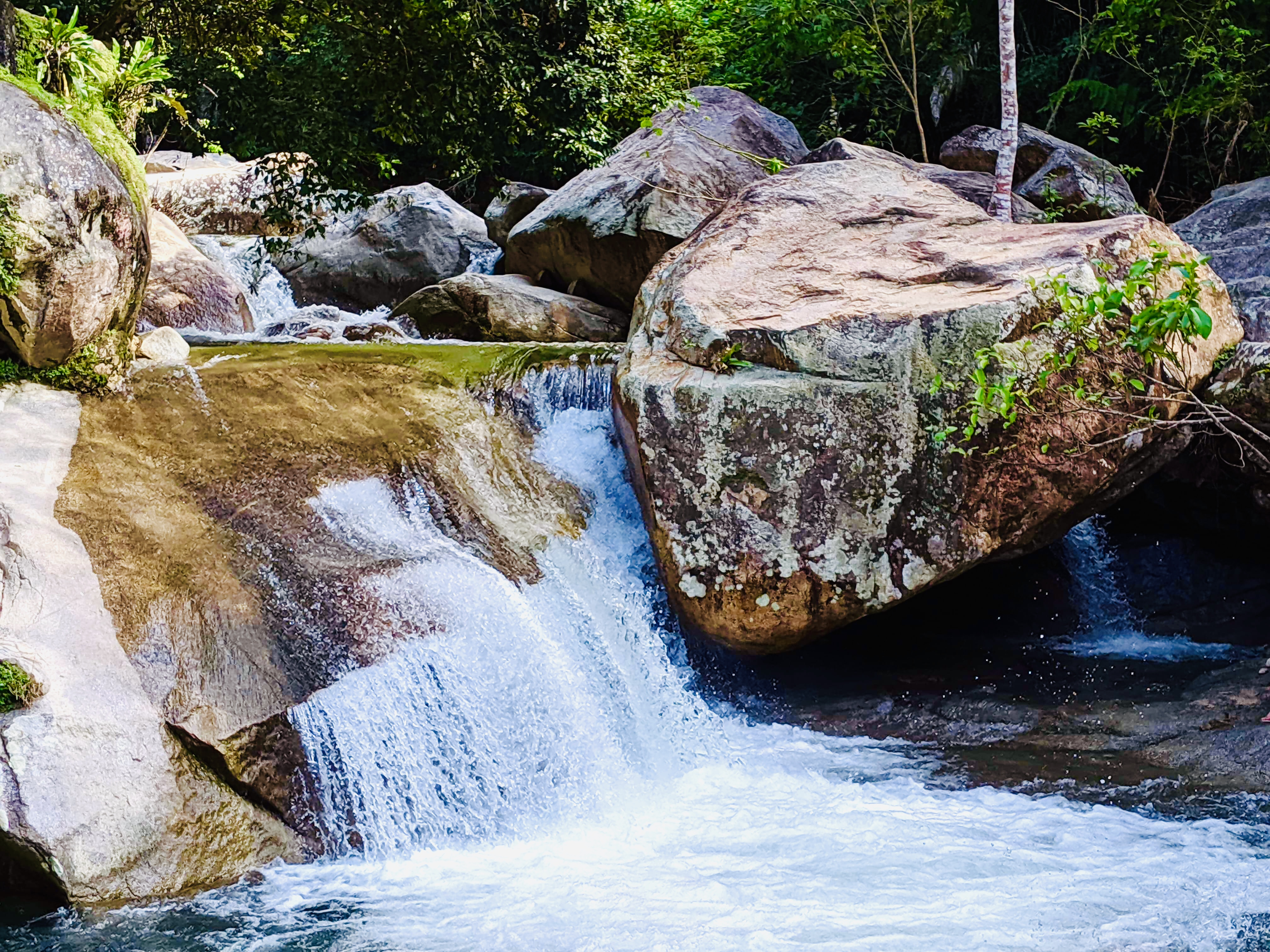 A natural rock water slide, where filming for the movie Predator took place