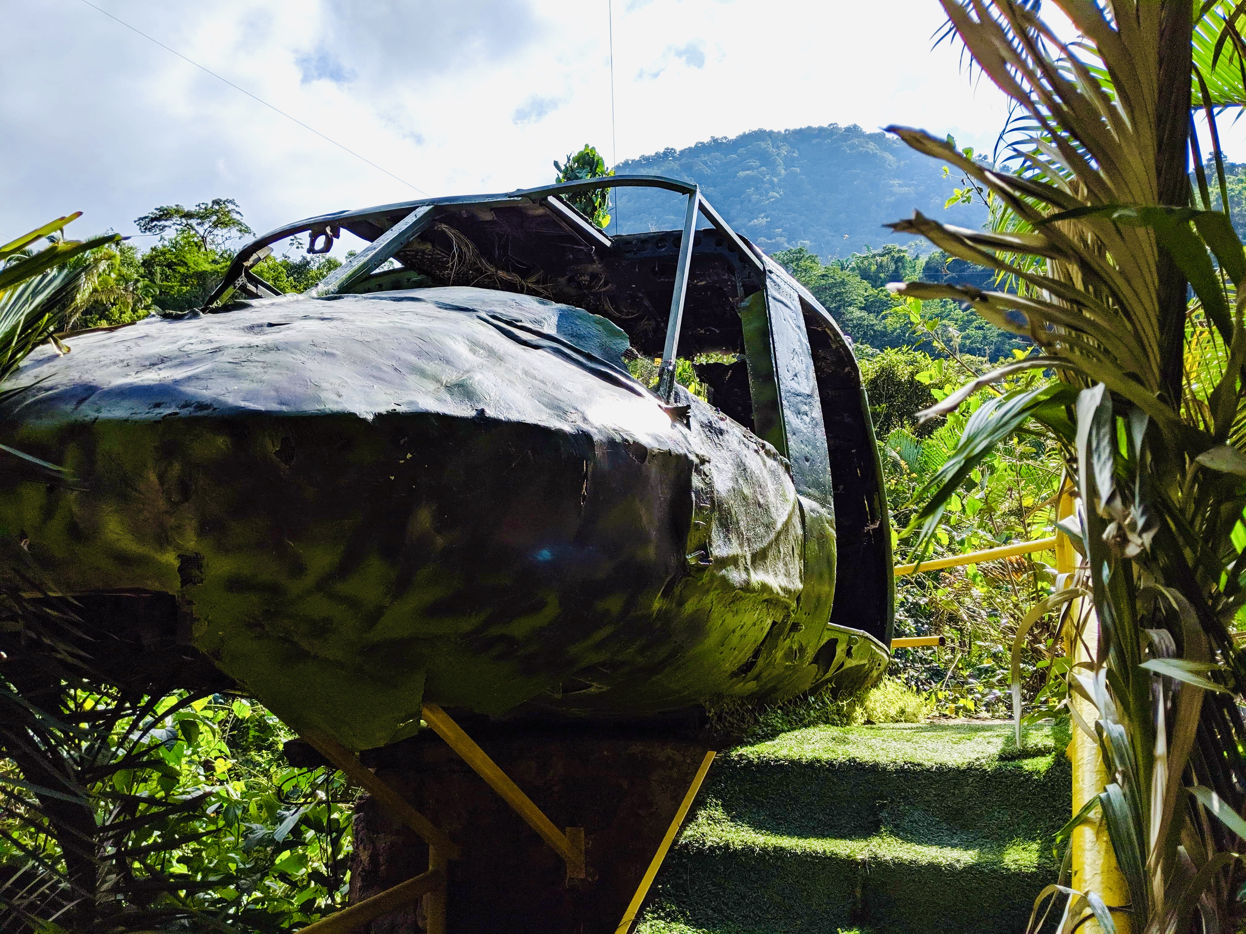 The outside of the plane from Predator, with the mountains and sky in the background. Is Puerto Vallarta safe to travel?