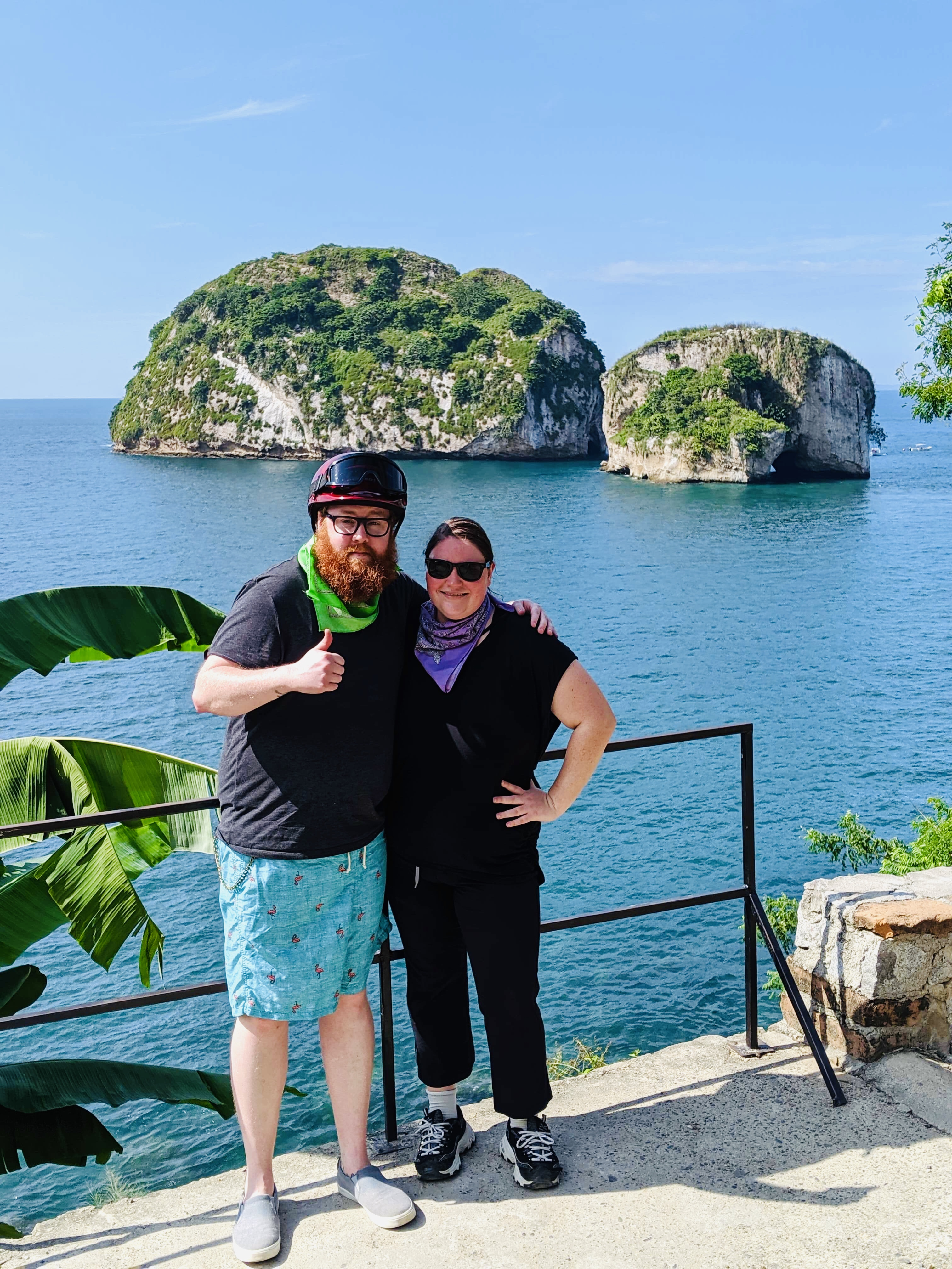 Scott and I at a look out point in front of Los Arcos