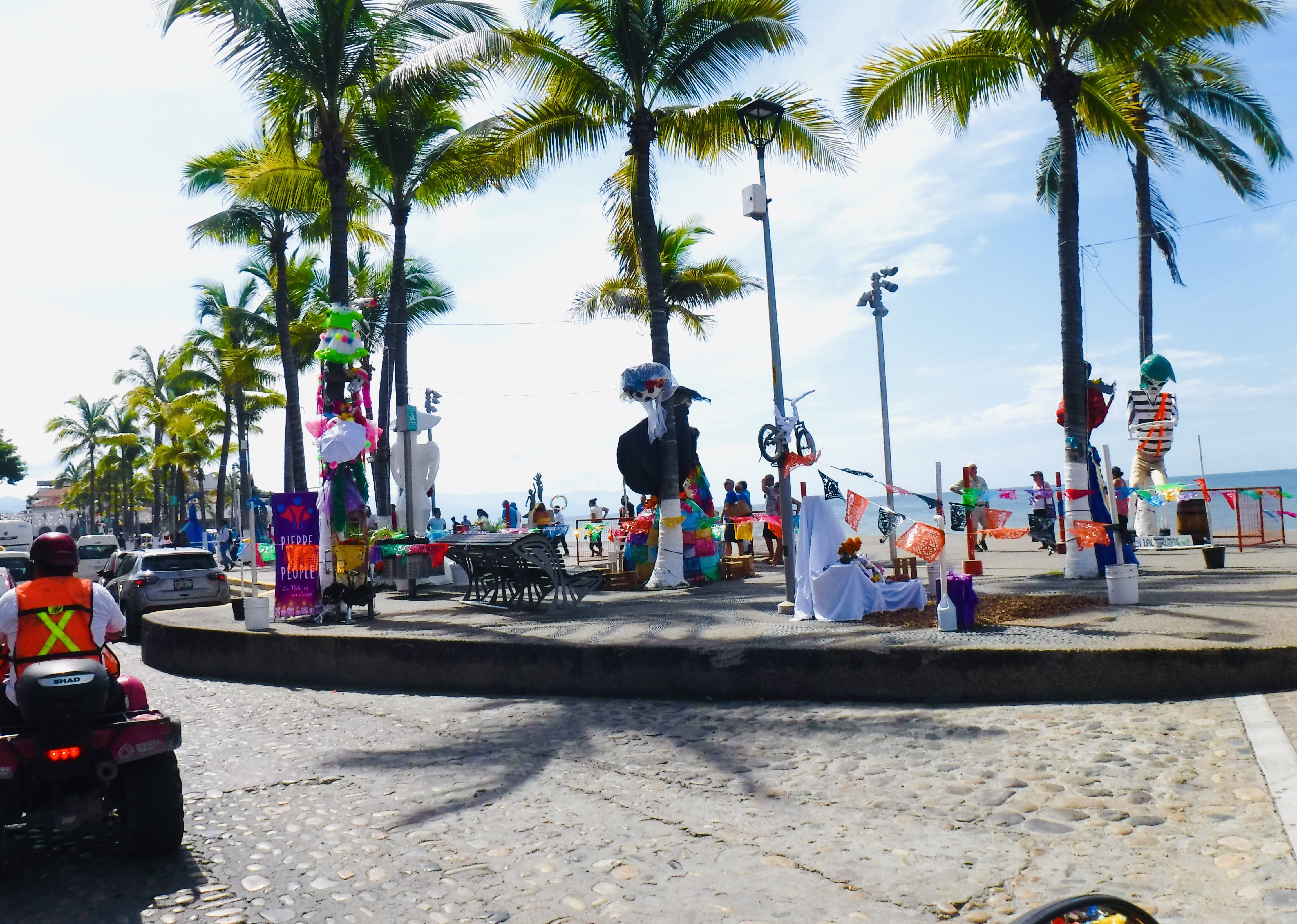 Day of the Dead decorations on the Malecon