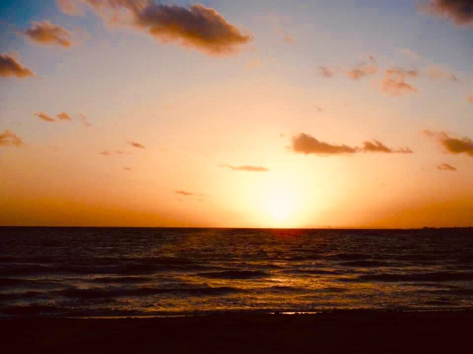 sunset at St.Kilda beach. A Melbobourne photo essay.