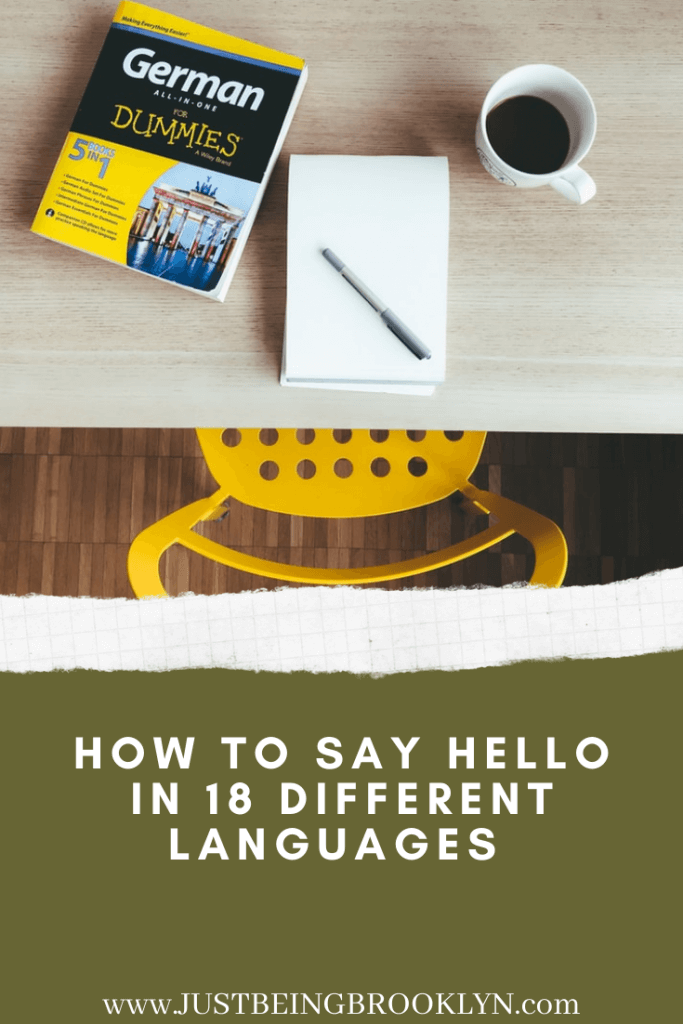 Pinterest pin How to say hello in 18 different languages