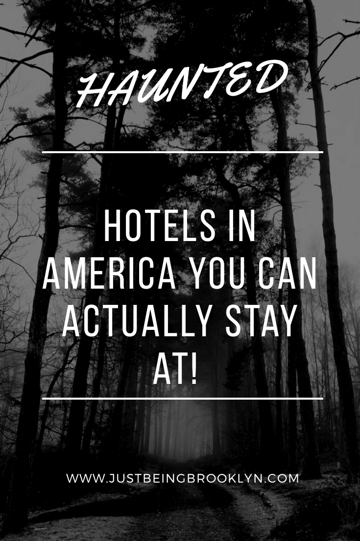 Haunted hotels in America that you can spend the night at Pinterest pin