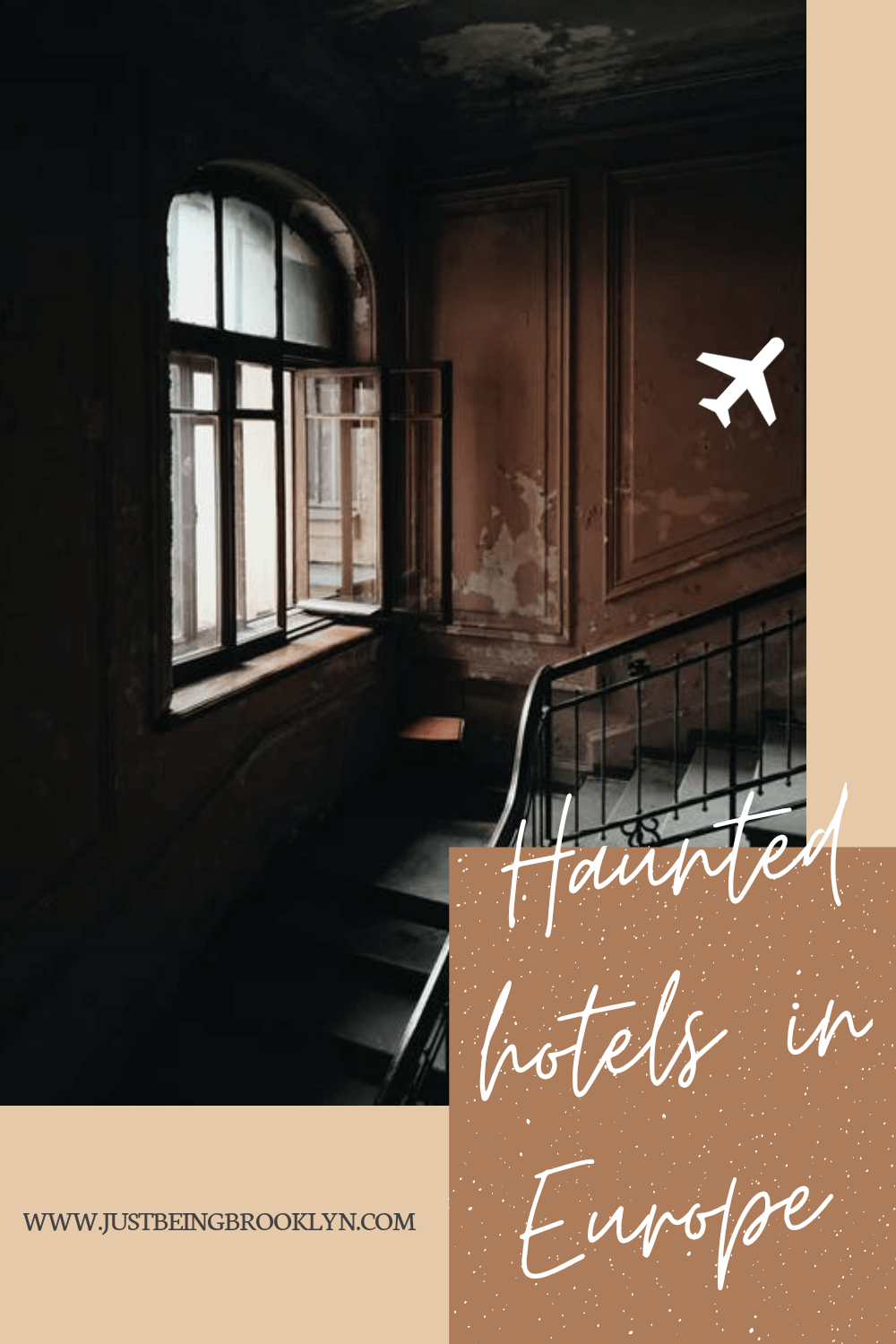 The most haunted hotels in Europe Pinterest pin