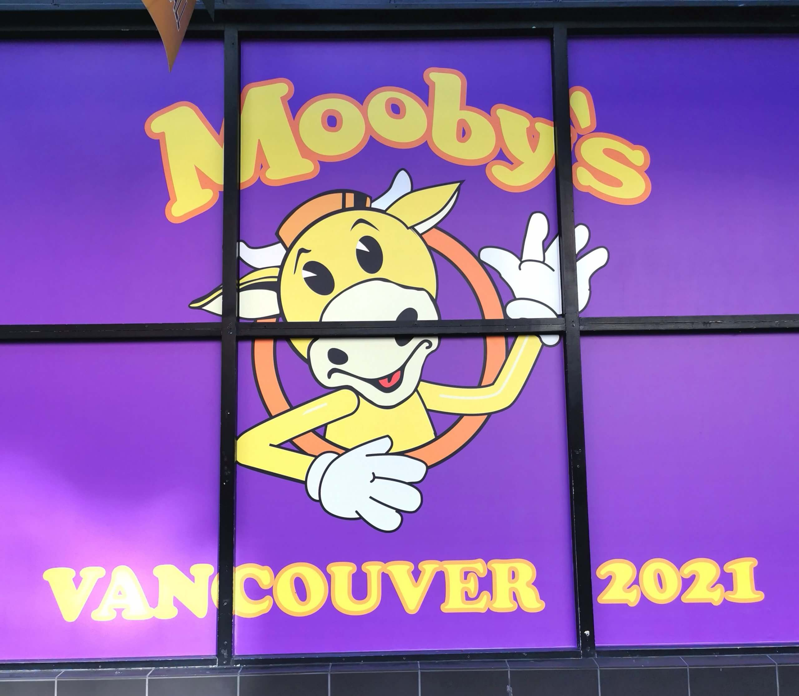 Mooby's Vancouver 2021 Sign