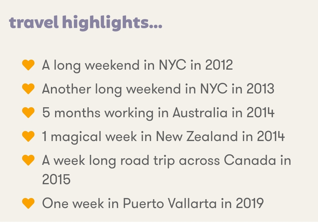 Travel Highlights